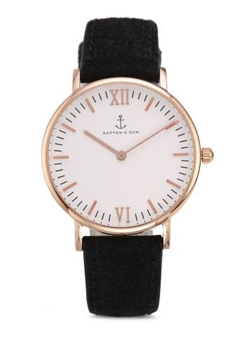 febd5c61177 Shop Kapten   Son Campina Black Vintage Watch Online on ZALORA ...