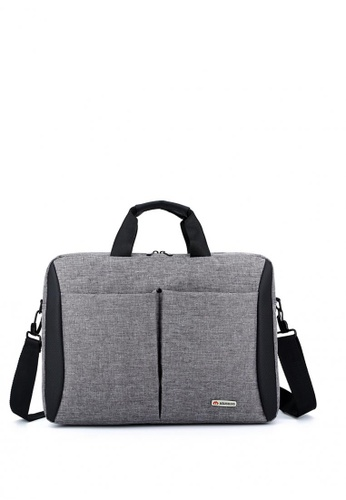 Lucky JX grey Jestoni Shift Soft Canvas Laptop Bag E3A37ACA93764AGS_1
