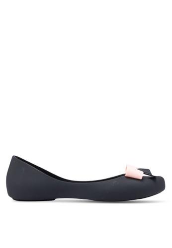 Twenty Eight Shoes black Jelly Bow Ballerinas 3735DSH84ABB13GS_1