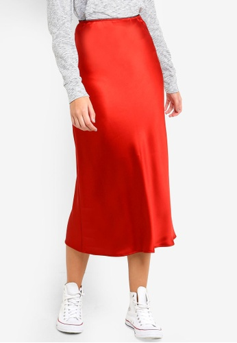 cheapest price best selection of 2019 separation shoes Satin Bias Midi Skirt