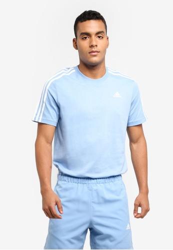 adidas blue adidas ess 3s tee AD372AA0SUG1MY_1