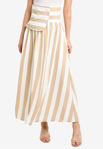 bYSI multi Corset Belt Stripe Skirt 4EE4EAAF84B3BBGS_1