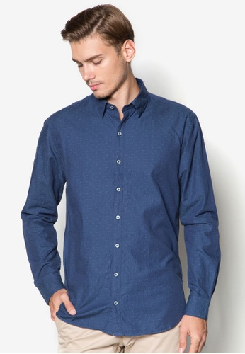 MANGO Man blue Slim-Fit Textured Cotton Shirt MA224AA61DBQSG_1