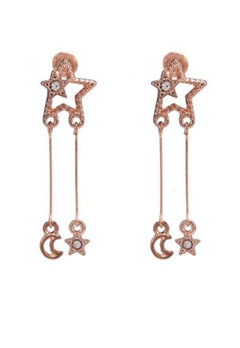 Saturation gold Aurora Star Dangling Earring 7A017AC5A53B47GS_1