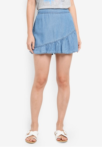 ESPRIT blue Denim Skorts FC57BAA24C8FBAGS_1
