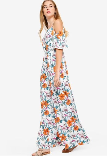 Buy Something Borrowed Cold Shoulder Buttoned Down Midi Dress Online on  ZALORA Singapore 5f476e629