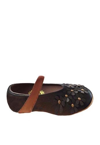 Twenty Eight Shoes black VANSA Flowers Ballet Flats  VSK-F908 5A9C1KSE572EF2GS_1