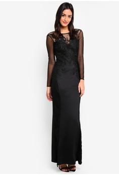 cb6e290b33 50% OFF Lipsy Lace Insert Maxi Dress RM 546.00 NOW RM 272.90 Sizes 10
