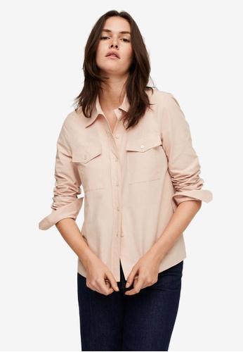 Mango pink Chest-Pocket Cotton Shirt 2633BAA92A1993GS_1