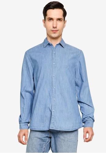 Cotton On blue Fitzroy Denim Shirt 21082AAE2E32AEGS_1