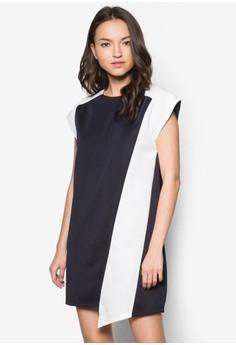 Colourblocked Panel Dress