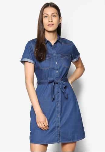 丹寧襯衫連身裙、 服飾、 洋裝DorothyPerkins丹寧襯衫連身裙最新折價