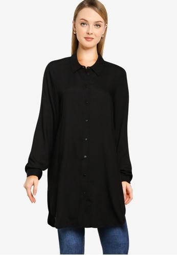 Vero Moda black Easy Long Shirt 66C61AA743FA54GS_1