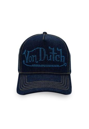 Von Dutch blue Von Dutch Stone Denim Trucker Cap 41CE3AC16B257BGS_1
