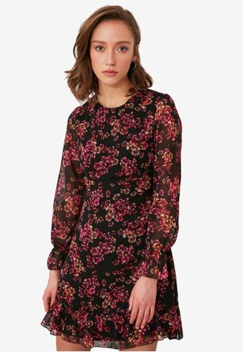 Trendyol multi Floral Print Flounce Dress 626F8AAFB00A8BGS_1