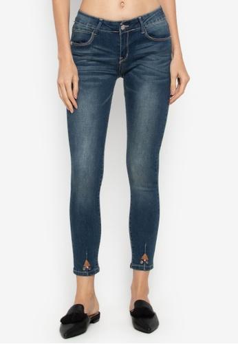 Balaynor blue Fashion Skinny Slight Acid Wash Jeans 2CD5AAAC9BFEC4GS_1