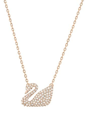 Swarovski gold Swan Necklace B0199AC1ABECBBGS_1