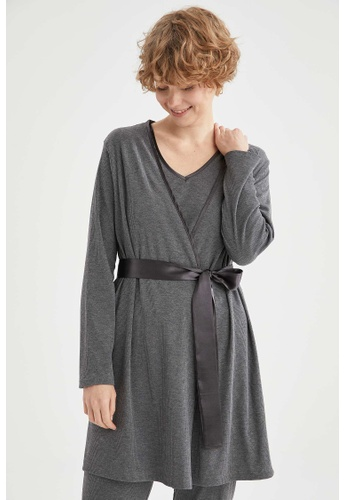 DeFacto grey Woman Homewear Knitted Top 4076EAAD2613C2GS_1