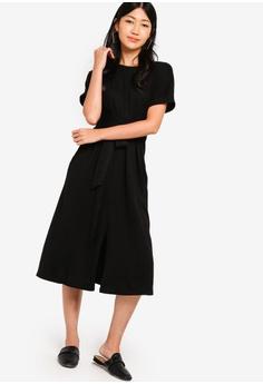 43de7ed73e1 ZALORA Jersey Wrap Midi Dress RM 109.00. Sizes XS S M L