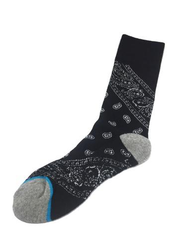 Splice Cufflinks Henna Series Black Socks SP744AA34XKBSG_1