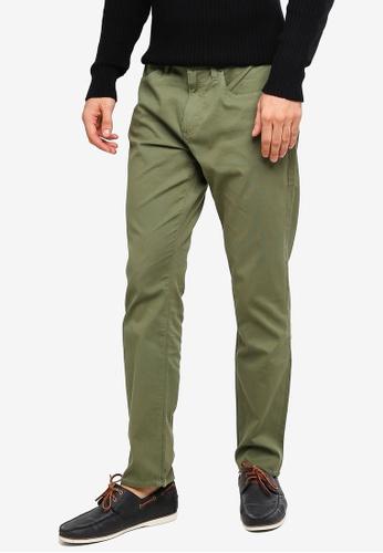 Brooks Brothers 綠色 中腰直筒褲 61885AAB3230CDGS_1