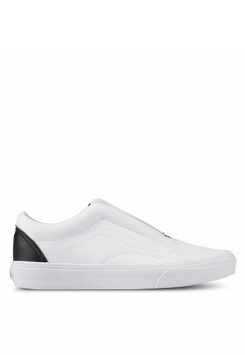 VANS black and white Old Skool Laceless Classic Tumble Sneakers VA142SH0SWRYMY_1