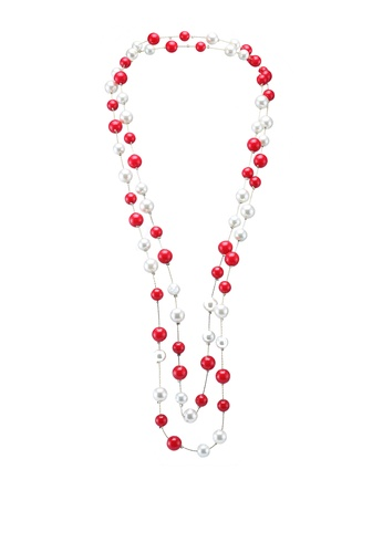 Red's Revenge red baubles & pearls long necklace 147DAAC4881CBAGS_1