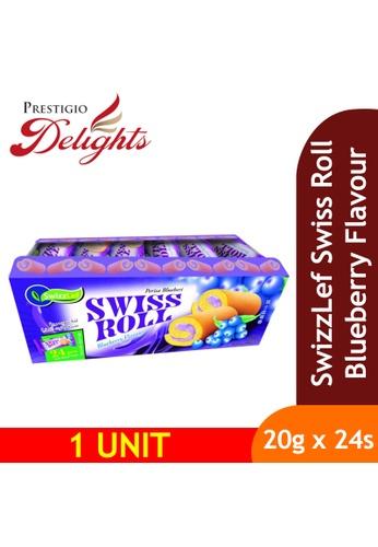 Prestigio Delights black SwizzLef Swiss Roll Cake Blueberry Flavour 20g x 24pcs E2AB5ESAB987DCGS_1