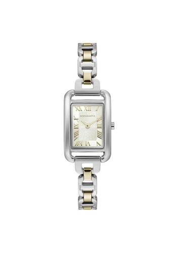 BCBG silver BCBGMAXAZRIA BG50909004 Gold Tone and Silver Stainless Steel Watch 23FB9AC32E4D2CGS_1