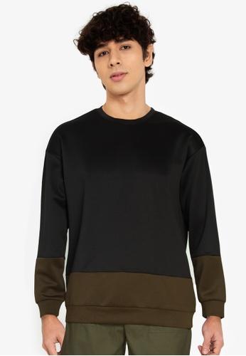 ZALORA BASICS multi Minimal Colour Block Sweatshirt D4033AAFA31AC5GS_1