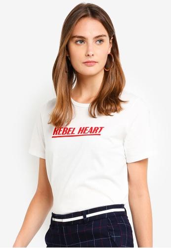 ESPRIT white Short Sleeve T-Shirt 8F631AAAA57548GS_1