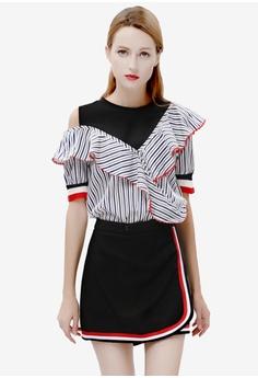 5fa903694e Sunnydaysweety multi Short Sleeves Top with Mini Dress Set SU042AA79DRCPH 1