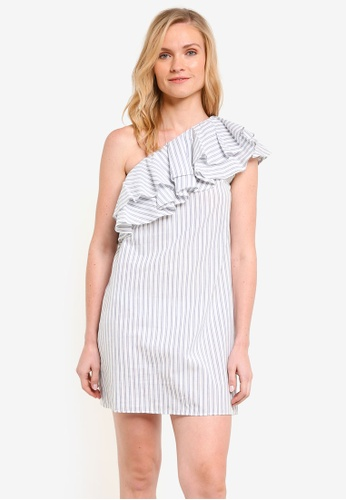 ZALORA white Asymmetric Toga Dress 80B26AA696B389GS_1