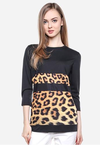 LGS black LGS - Regular Fit - Kaos Wanita - Hitam - Corak Macan LG695AA27DUMID_1