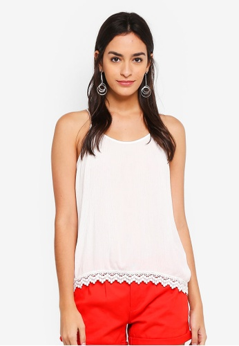 ONLY white Annie Strap Top 41EE5AA6DB4830GS_1