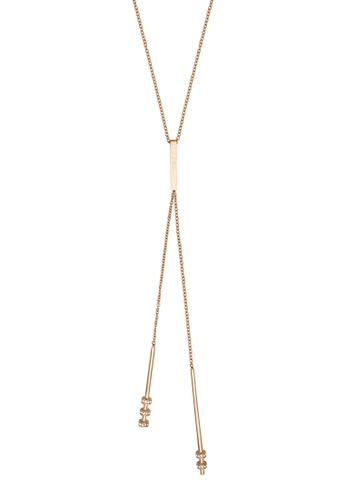 ESPRIT gold ESPRIT [Swing] RoseGold Stainless Steel Necklace (42 cm + 3 cm extension) 9E23FACFD1ACDEGS_1