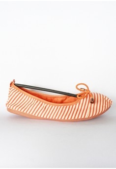 Ribbon Stripes Canvas Foldable Shoes