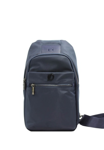 OPTIONS blue and navy Bentley Chest Sling E912EACDECC88FGS_1