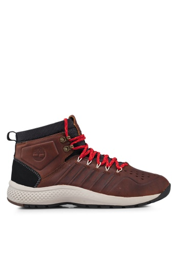 Timberland brown Flyroam Trail Mid Leather Shoes 2482ASHC96768DGS_1
