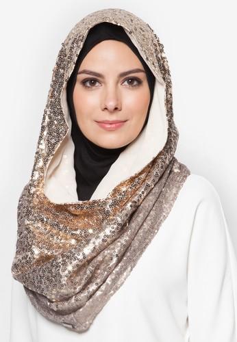 漸層亮片頭巾, zalora taiwan 時尚購物網鞋子飾品配件, 圍巾及披肩