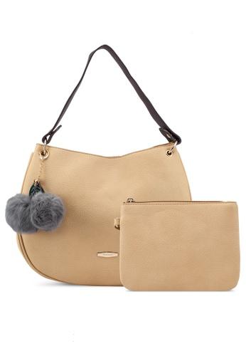 Perllini Mel beige Faux Leather Single Handle Bag BF2F0ACCF1F035GS 1 96318aa7830fe
