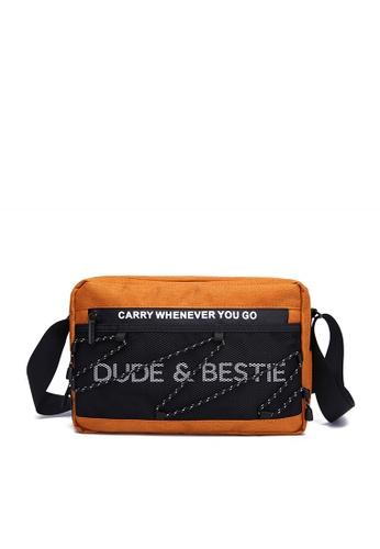 The Dude orange Wave Messenger Bags D5DACACA86AF2BGS_1