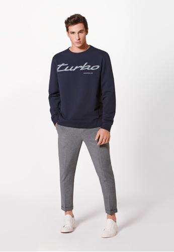 Porsche Driver's Selection navy Unisex Navy Blue Sweater Porsche Turbo Sweatshirt For Men and Women C24BAAA36D0DDBGS_1
