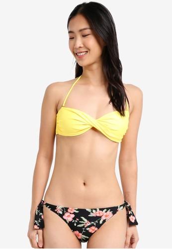 Yshey black and yellow Alice Sweet Desert Bikini Set YS681US0SRAAMY_1