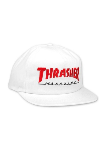 c4d8cd8322c Thrasher white Thrasher Magazine Logo Two-Tone Hat White 00E9EAC2804123GS 1