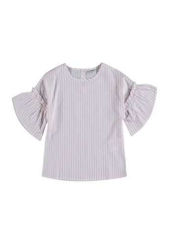 LC Waikiki pink Girl's Striped Viscose Blouse 815D6KAD132DF4GS_1