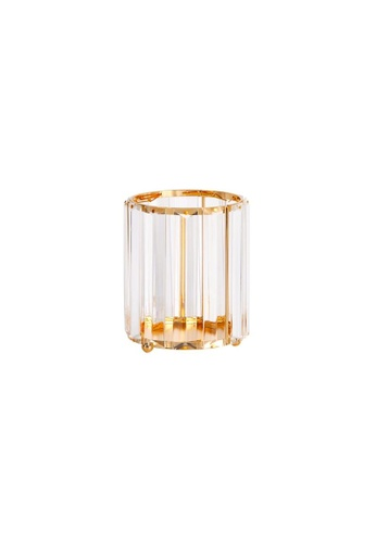 DILAS HOME Geometric Crystal Effect Glass Holder (Round) 31CB3HL1D1A16EGS_1