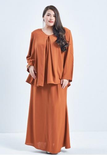 CURVA FABULOUS orange Ms Seri Minimalist Kurung 89265AADCACB2FGS_1