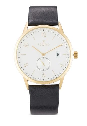 Niels 皮革圓手錶, 錶類, 飾esprit outlet 台中品配件