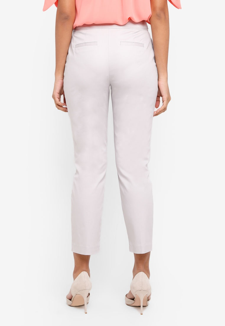 Grey Trousers Button Perkins Tab Dorothy Grey z4qHwx5
